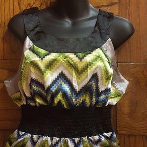 Sele Dresses - NWT Sleeveless  Shirt Dress by Sele Size L